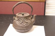 A Chinese (Antique) Cast Iron Tea Pot