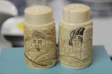 Set of 2 Japanese Bone Salt and Pepper Shaker