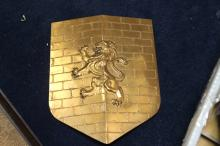 A Metal Lion Shield