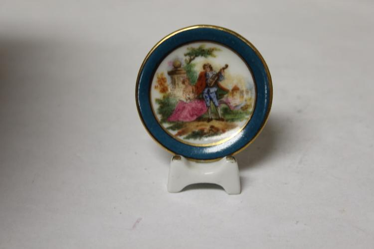 A Miniature Limoge's Plate and Stand