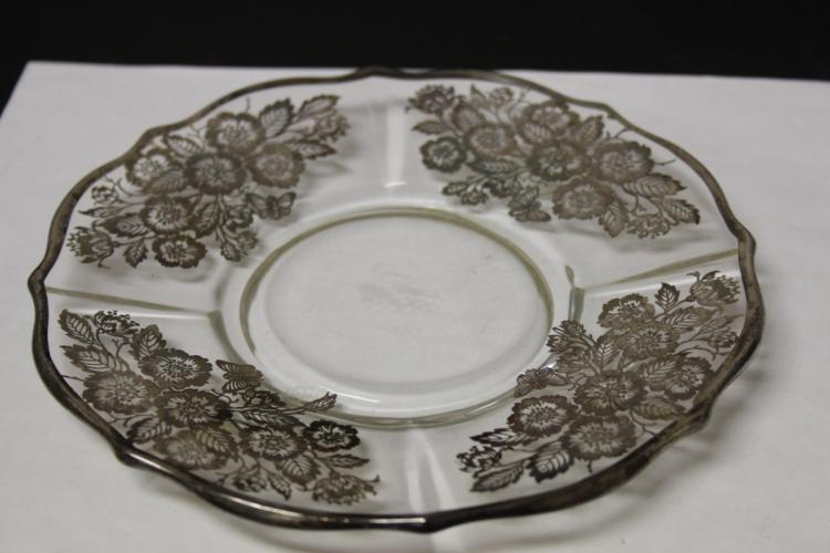 A Sterling Silver Overlay Plate