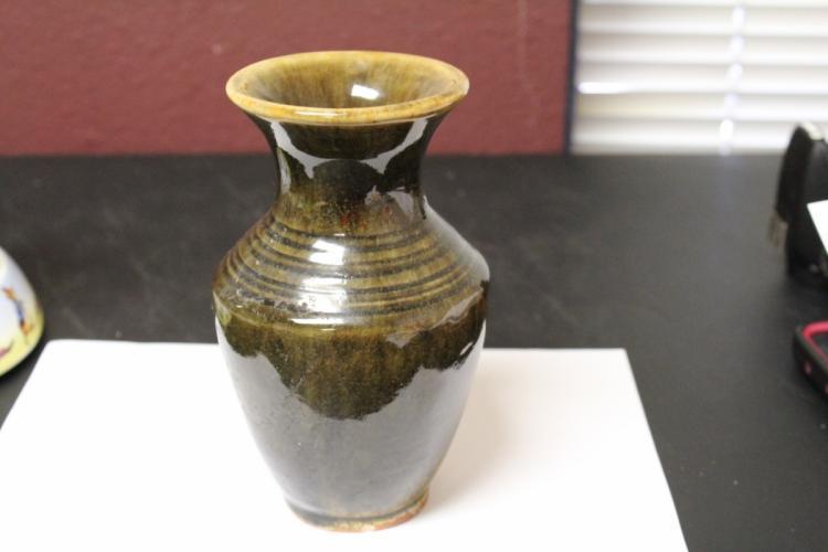 A Signed Pottery Vase