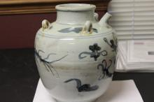 A 19th Century Korean Blue and White Water Jug
