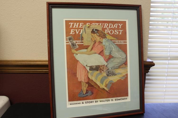 Framed Norman Rockwell Saturday Evening Post Magazine