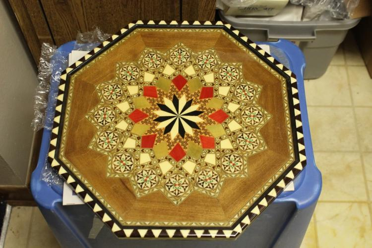 AN Inlaid Wooden Tray/Plaque