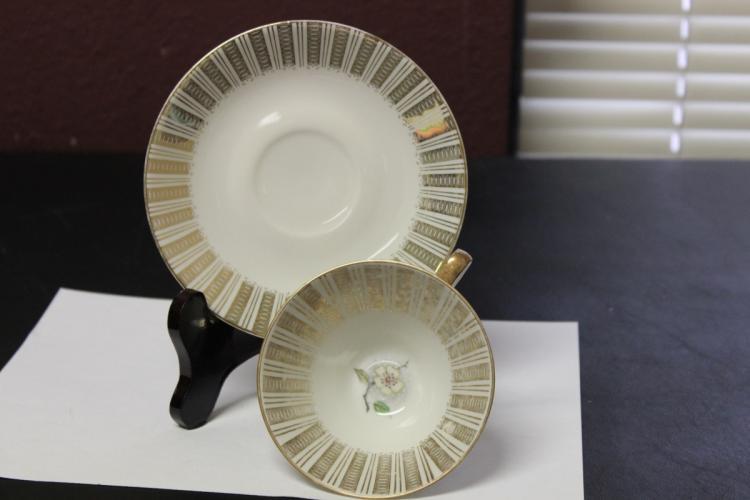 A Bavaria Elfenbein Porzellan Cup and Saucer