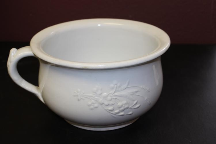An Ironstone China Bowl With Two Handles