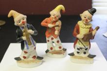 Lot of 3 Korean Ceramic Clowns