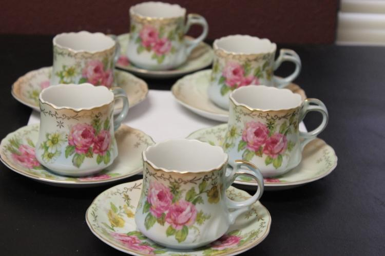A Set of 6 RS Prussia Cup and Saucer
