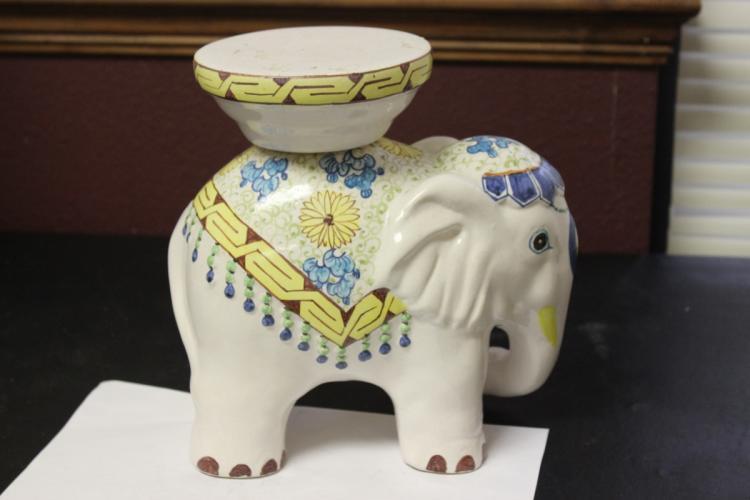 A Ceramic Small elephant Plant Stand
