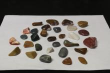 A Lot of 30 Different Shape Stones
