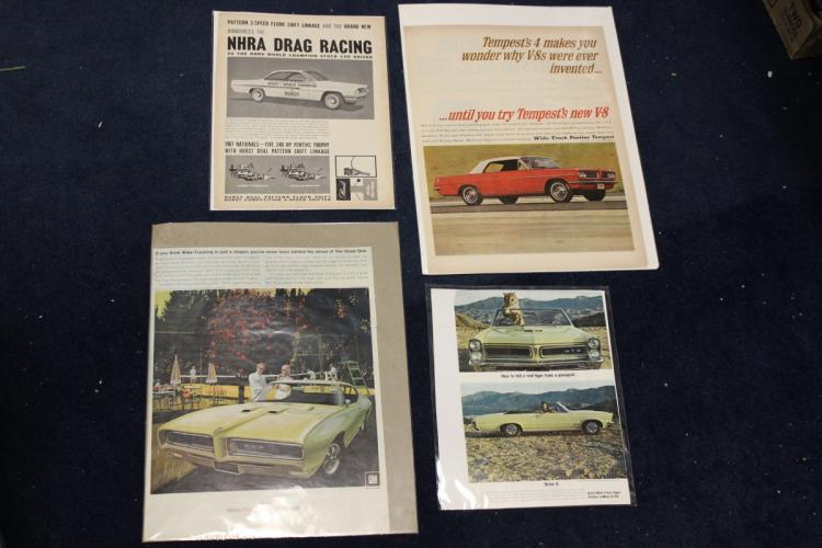Lot of 4 Vintage Automobile Advertising