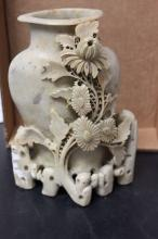A Vintage/Antique Chinese Soap Stone Vase
