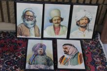A Set of 5 Watercolour Middle East