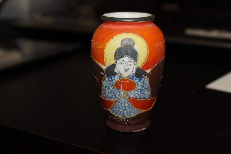 A Kutani Japanese Miniature Vase