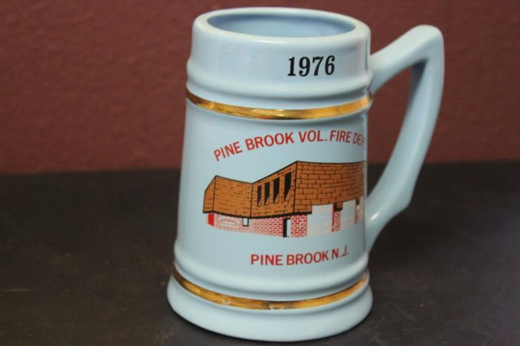 A Pinebrook Vol. Fire Department N.J. 1976 Stein or Beer Mug