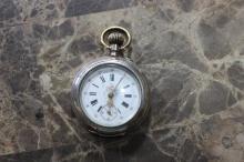 An 800 Silver Case Pocket Watch