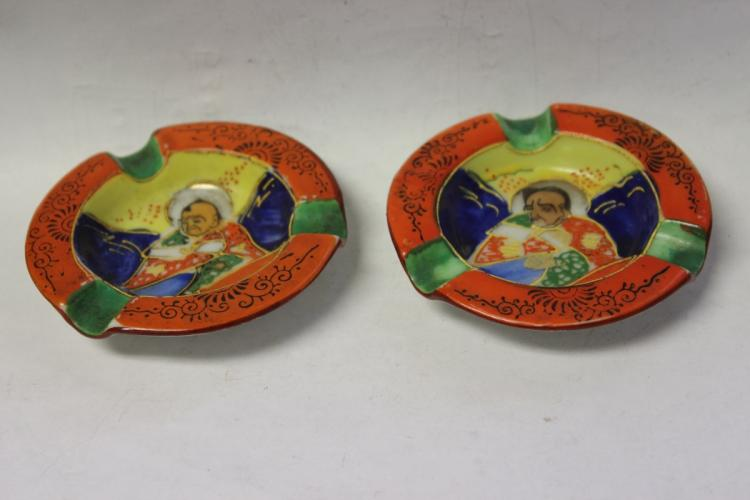 A Pair of Satsuma Ashtray