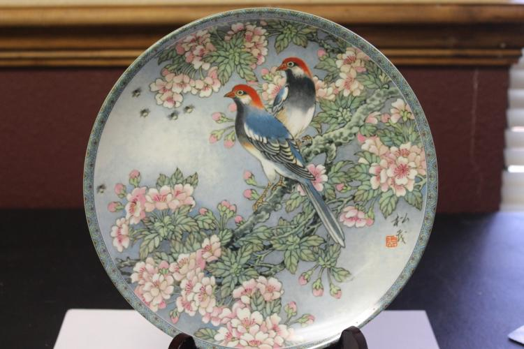 Chinese Collector's Plate by Zhang Song Mao