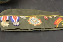 A Vintage Cap with Medals
