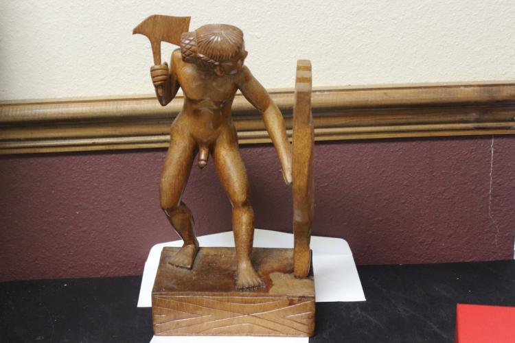 A Carved Wood Statue