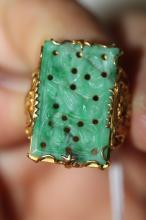 22k Jade Ring