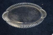 A Glass Oval Tray