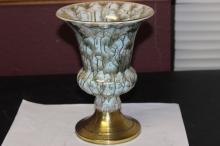 A Delf Brass Accent Vase