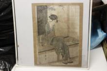 A Japanese Woodblock Print by Utamoro