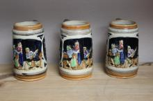 A Lot of 3 Vintage Steins -Made in Japan