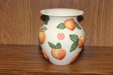 A Claire Burke Pottery Peach Vase