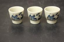 Lot of 3 Saki Cups?