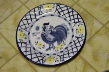 A Chicken Ceramic Plate by Bella Casa