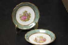 Lot of 2 Limoge's 24 Carat Porcelains