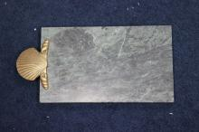 A Marble Tray With Brass or Bronze Accent