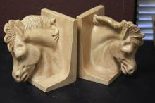 Pair of Ceramic Horse Book Ends