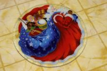 A Large Art Glass Plate or Charger