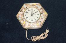 A G.E. Faux Tile Mosaic Electric Clock