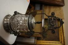 A Victorian Pickle Castor With Tongs