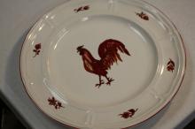 An Ironstone Chicken plate