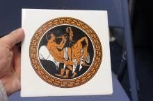A Greek Motif Vintage Tile