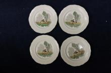 A Set of 4 Royal Doulton Birbeck Plates