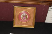 An Antique Porcelain Frame Small Plaque