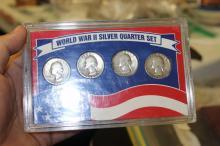 A World War II. Silver Quarter Set