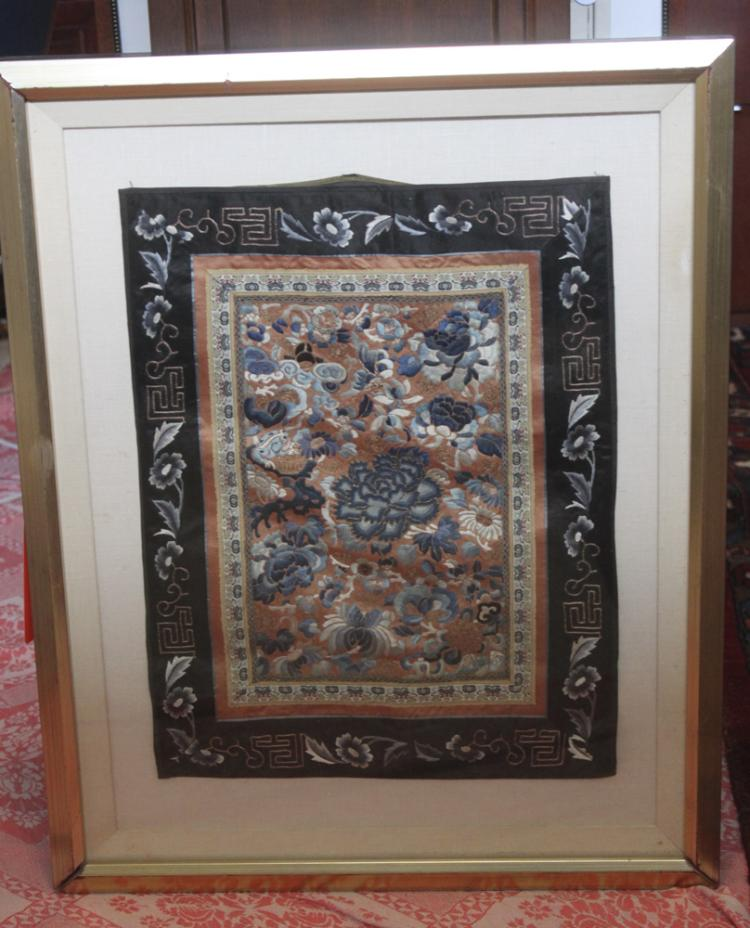 Antique / Vintage Chinese Framed Textile