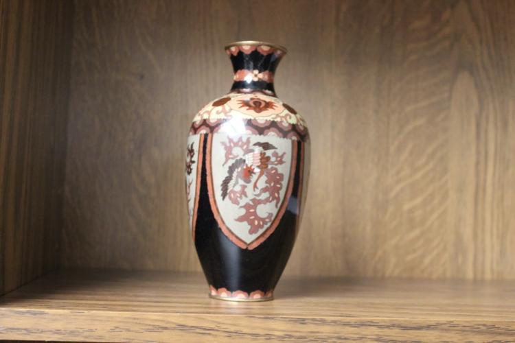 Large Japanese Cloisonne Vase Meiji Period