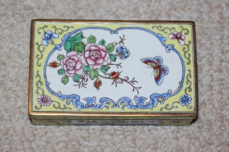 Antique / Vintage Chinese Enamel Box