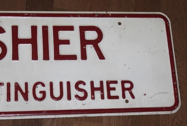 Vintage / Antique Porcelain Cashier Sign