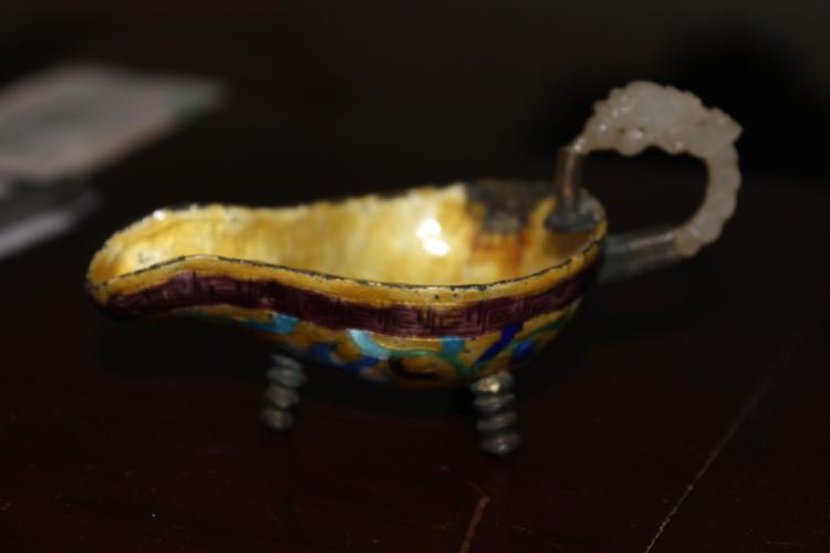 Antique Chinese Cloisonne / Enamel Libation Cup