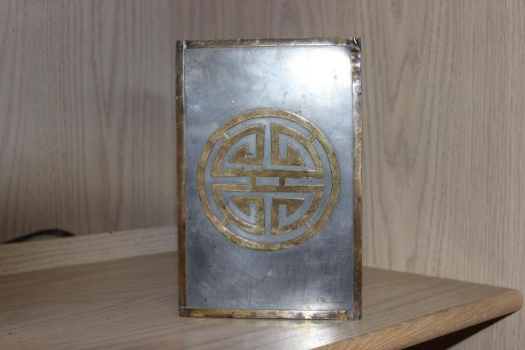 Antique / Vintage Chinese Pewter Box